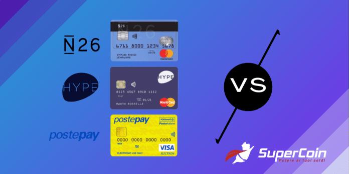 Hype vs N26 vs Postepay