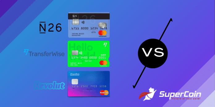 N26 vs Revolut vs Transferwise