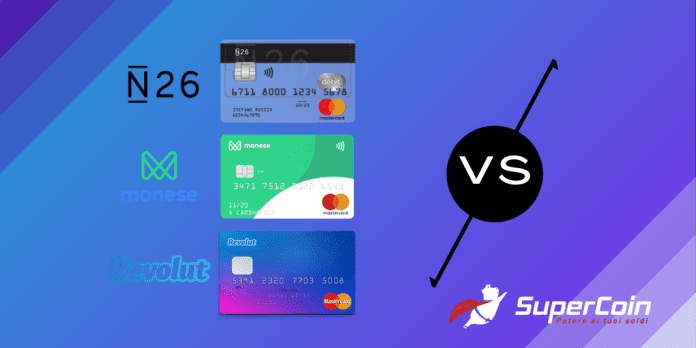 N26 vs Revolut vs Monese